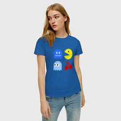 Футболка хлопковая женская Pac-Man Pack цвета синий — фото 2