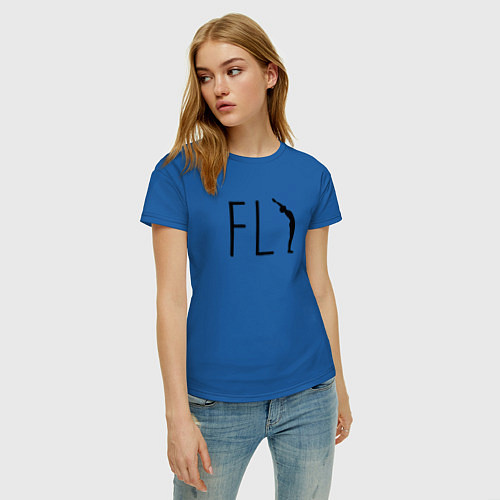 Женская футболка Yoga Fly / Синий – фото 3